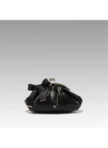 Black Ribbon Büyük Burslu Çanta Siyah